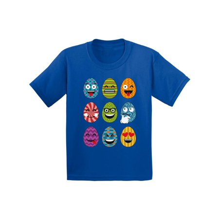 Awkward Styles Easter Eggs Emoji Infant Shirt Easter Baby Tshirt Easter Gifts Easter Emoji T Shirt for Baby Easter Holiday Party Outfit Easter Egg Baby Shirt Cute Easter Egg Hunt Tshirt for