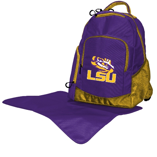 NCAA Diaper Bag by Lil Fan, Backpack Style - Louisiana State Tigers