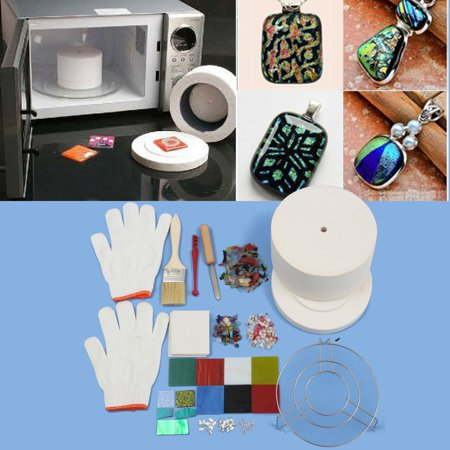 15Pcs/Set Large Microwave Kiln Kit Stained Glass Fusing Supplies (Paragon Glass Kiln)