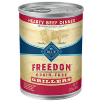 Blue Buffalo Freedom Grillers Grain Free Natural Wet Dog Food, Beef, 12.5-oz cans