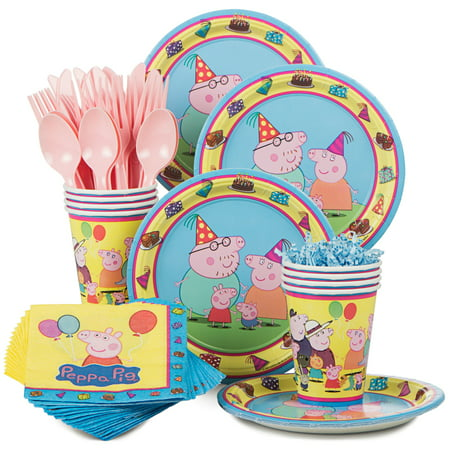 Peppa Pig Standard Kit for 8 CSC - Peppa Pig Birthday Supplies