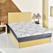 Costway Queen Size 9 Inch Memory Foam Mattress Bed Topper Zipped Washable Fabric Cover