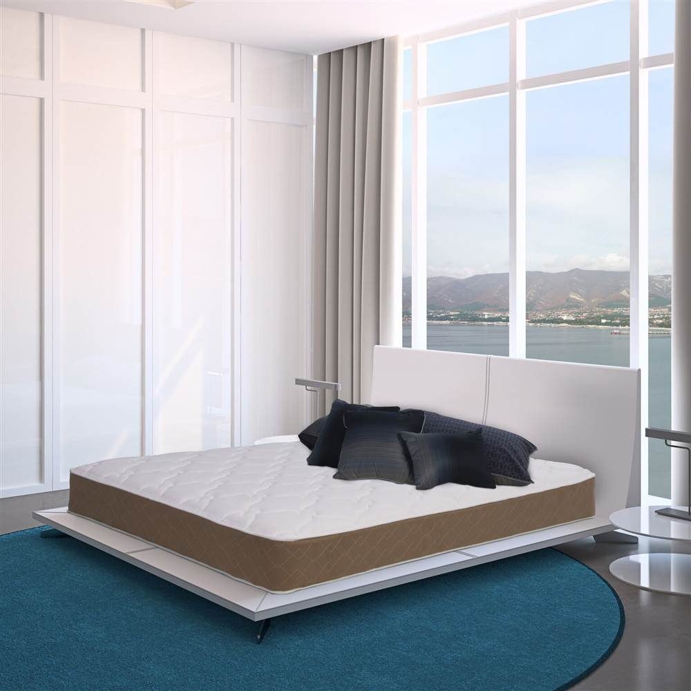 Luxury Ultra Firm Twin Size Mattress,  Wrapped Coil with fortified edge support, Bed in a Box (Twin)