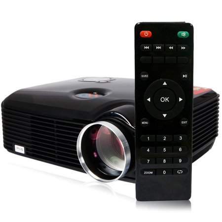 Zimtown New PH5 Home Cinema 2500 Lumens black HD LED Projector 1080P HDMI