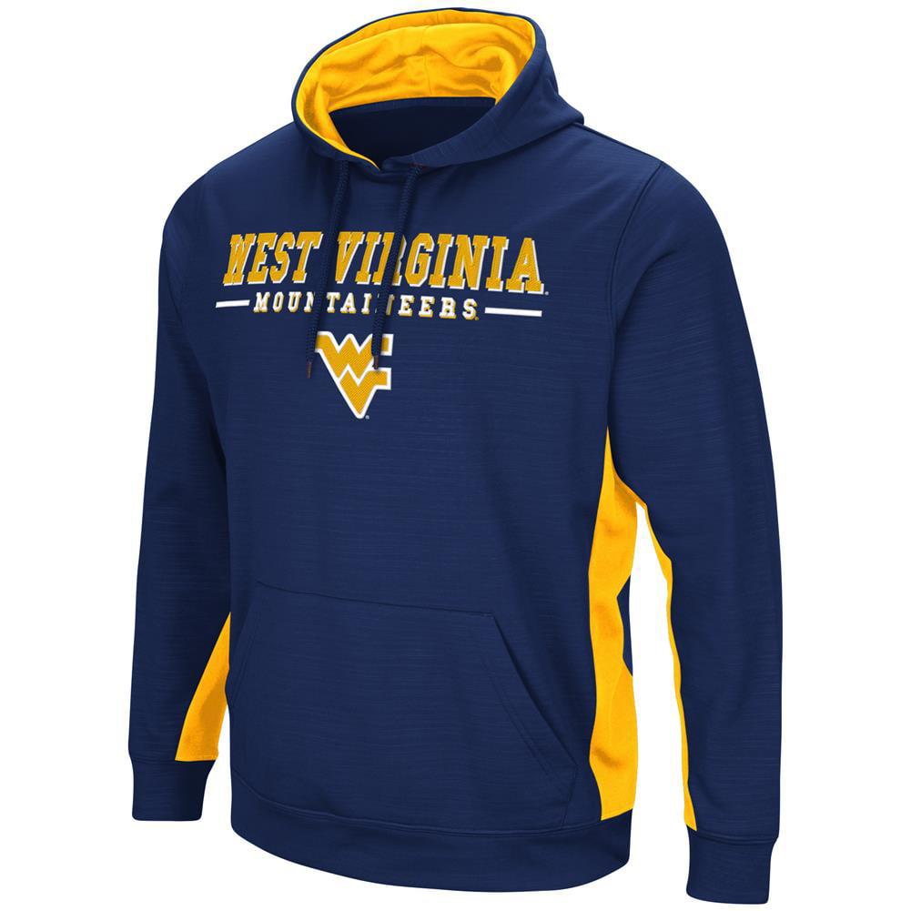 West Virginia Mountaineers Hoodie Performance Fleece Pullover Jacket by Colosseum