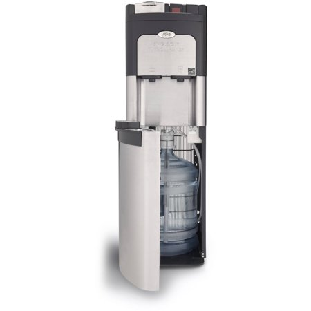 Coffee Maker And Water Dispenser : Glacial Single Cup Coffee Maker and Bottom Loading Water Cooler Full Stainless Steel Water ...
