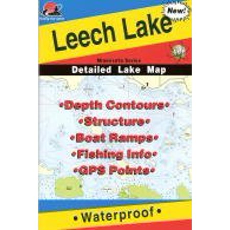 Map for Leech Lake in Minnesota By Fishing Hot