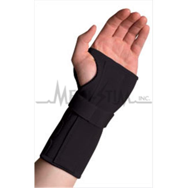 Thermoskin CWB85168 Conductive Carpal Tunnel Wrist Brace With Stay - Black, Left - L, 7.75 in. - 8.75 in., Around Wrist Joint
