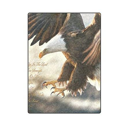 Religious Throw Blankets - CADecor Bald Eagle Religious Couch Sofa or Bed Fleece Blanket Throw 58x80 inches