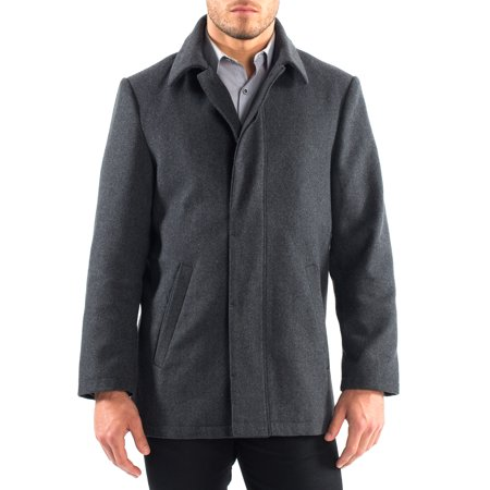 Wool Car Coat - Alpine Swiss Vance Mens Jacket Wool Blend Button Up Coat Dress Car Coat Blazer
