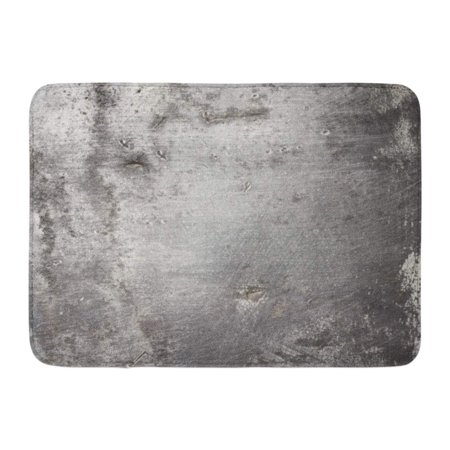 KDAGR Gray Steel Aged Metal Old Iron Rust Plate Rusty Worn Wall Doormat Floor Rug Bath Mat 23.6x15.7 inch