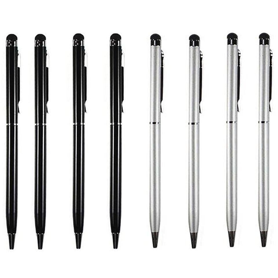 10Pcs 2in1 Touch Screen Stylus Ballpoint Pen iPad iPhone Galaxy Phone Tablet U