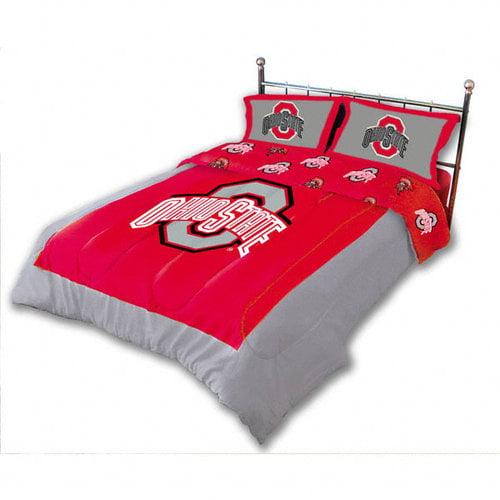 NCAA - Ohio State Buckeyes 3-Piece Comforter Set - Queen