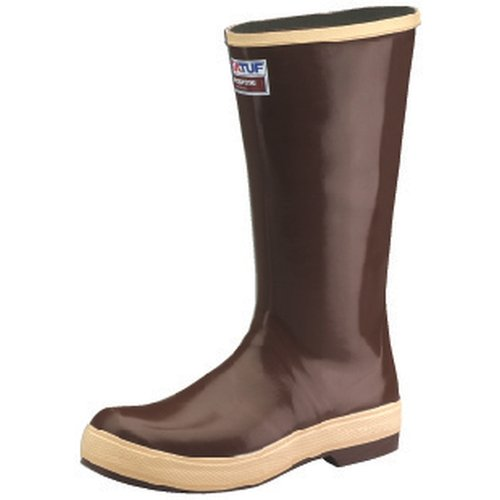 "Xtratuf Legacy Men's 15"" Plain Toe Fishing Tan Boots w  Chevron Outsole -Size 11 by Generic"