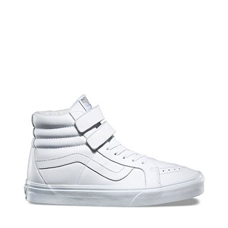 Vans SK8 Hi Reissue Mono Leather True White Men's Skate Shoes Size 9.5](Vans Sizing Chart)
