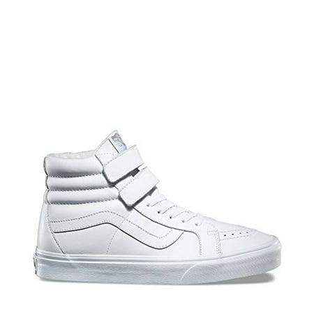 - Vans SK8 Hi Reissue Mono Leather True White Men's Skate Shoes Size 9.5