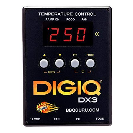DigiQ DX3 BBQ Temperature Controller, Digital Meat Thermometer with Universal Adaptor Big Green Egg and (Universal Temperature Controller)