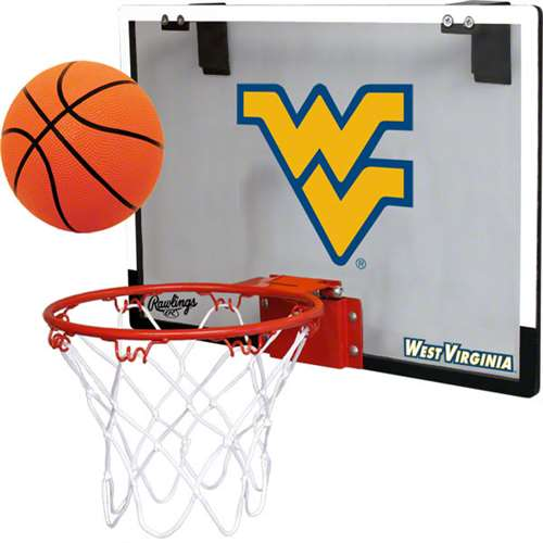 Rawlings NCAA Polycarbonate Hoop Set West Virginia University Mountaineers
