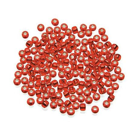 Toho Japanese Glass Seed Beads - Silver-Lined Red - 6/0 - Japan Toho Seed Beads