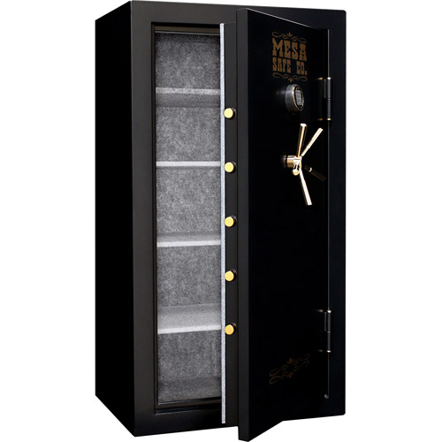 Mesa Safe MBF6032E-P Fire Resistant Large Security Safe with Electronic Lock, Black