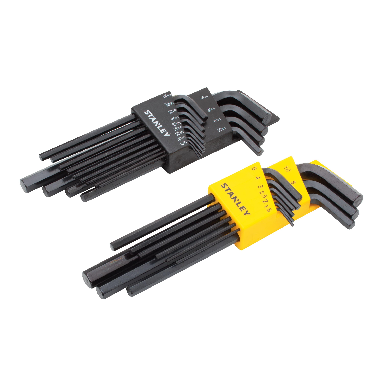 Stanley 85 753 22pc Hex Key Set 4 Way Switch Grainger