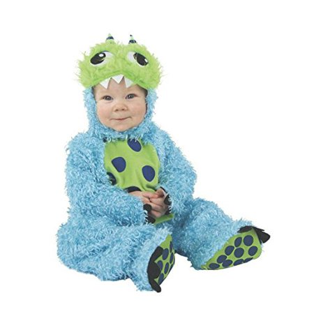 Fluffy Toddler Kids Blue Monster Halloween Costume, Size 18mo-2T - Halloween Blues