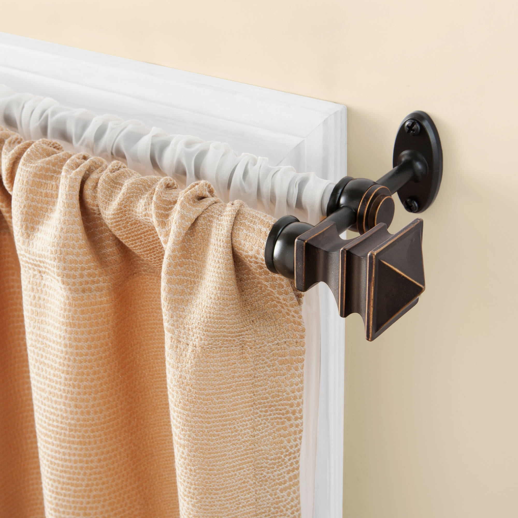 "Kenney 5/8"" Diameter Arts and Crafts Double Curtain Rod"