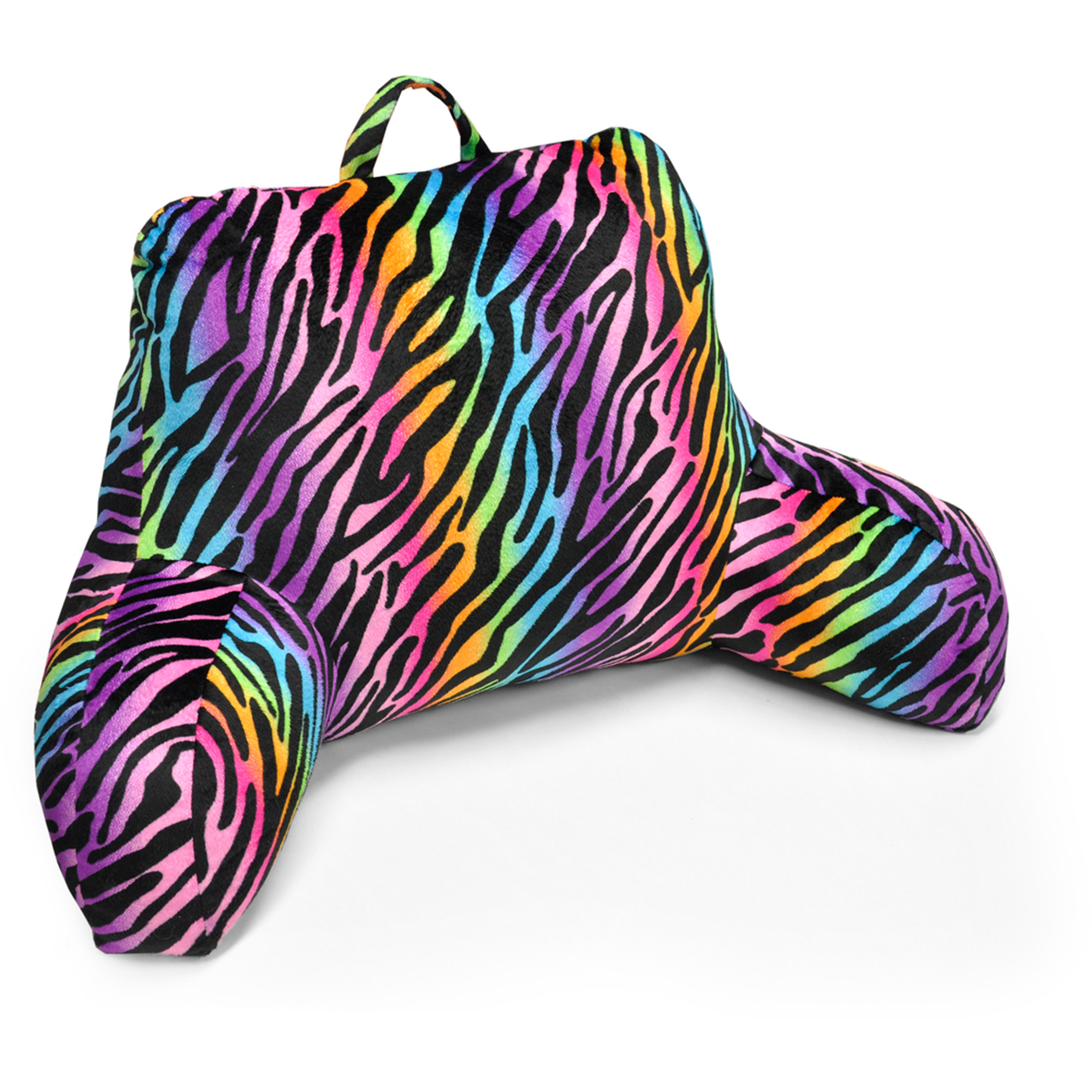 Bed rest pillow walmart - Your Zone Rainbow Zebra Backrest