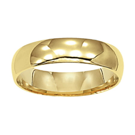 14kt Yellow Gold Plain Wedding Band, 5mm