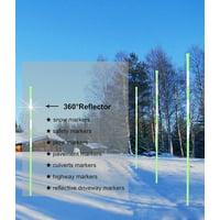 FiberMarker Reflective Snow Markers 48-Inch 20-Pack Green 1/4-Inch Dia Solid Fiberglass Snow Poles