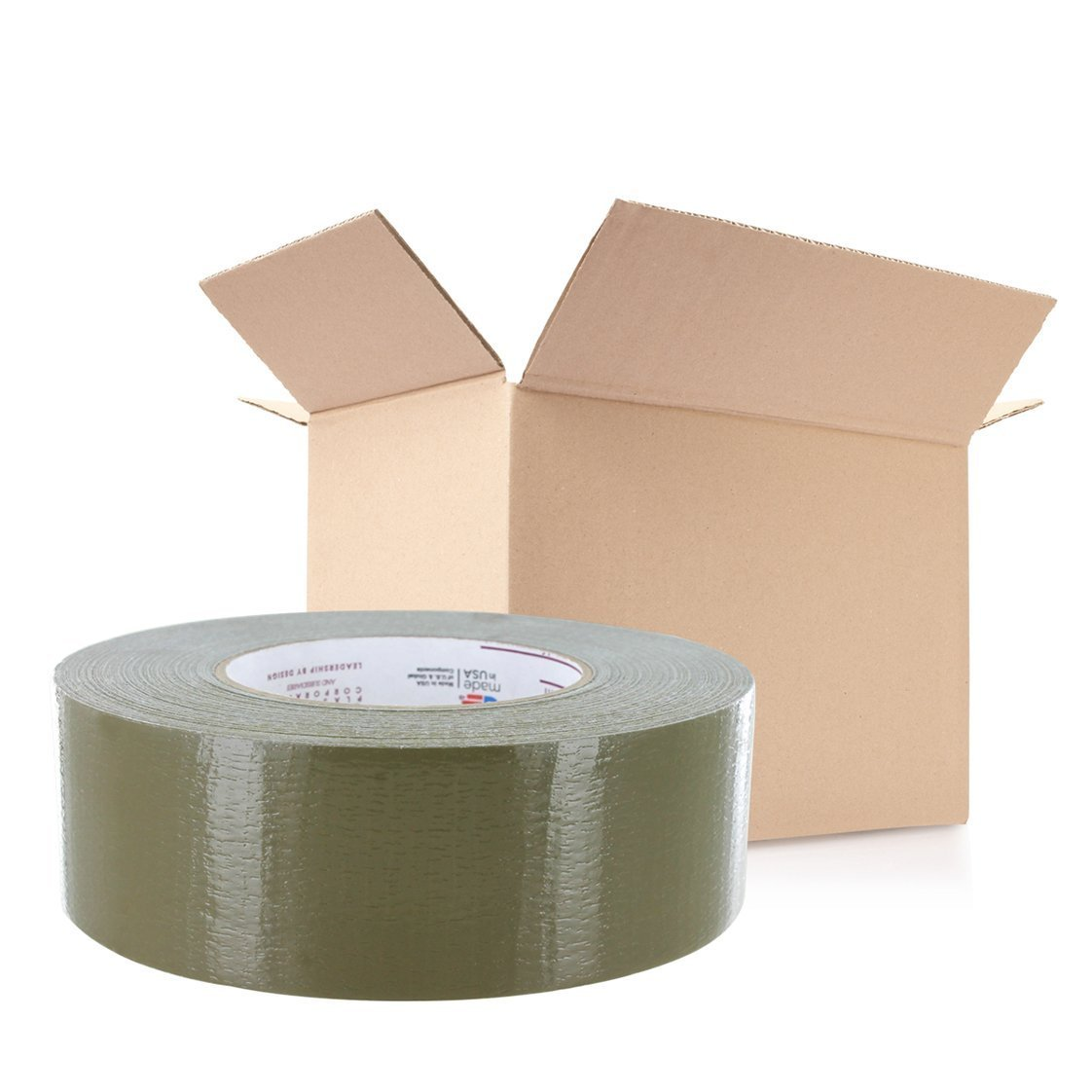Nashua Duct Tape 2 in x 60 yd Olive Drab 9 mil 24 Pack