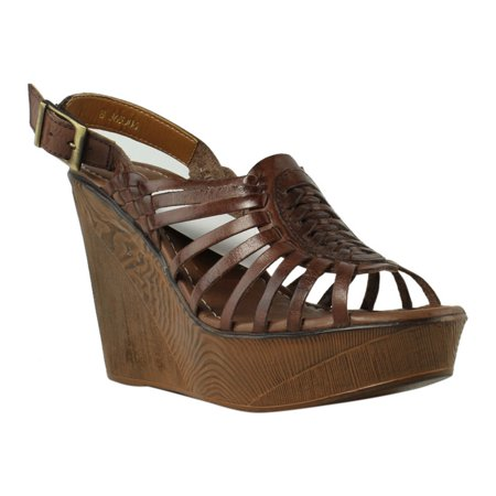 New Ladies Brown Wedge Heel - VOLATILE Womens PROLIFIC-200 Brown Platform & Wedges Heels Size 8 New