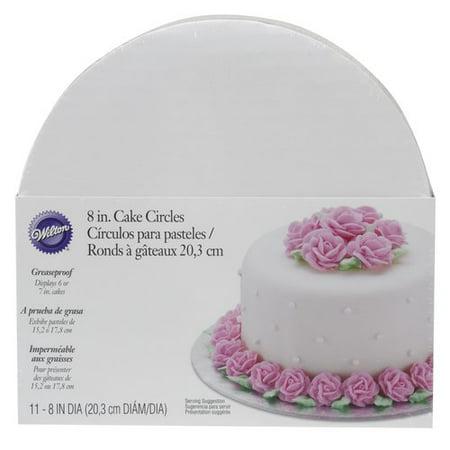 "Wilton 8"" Round Cake Boards, 11pk, White - Walmart.com"