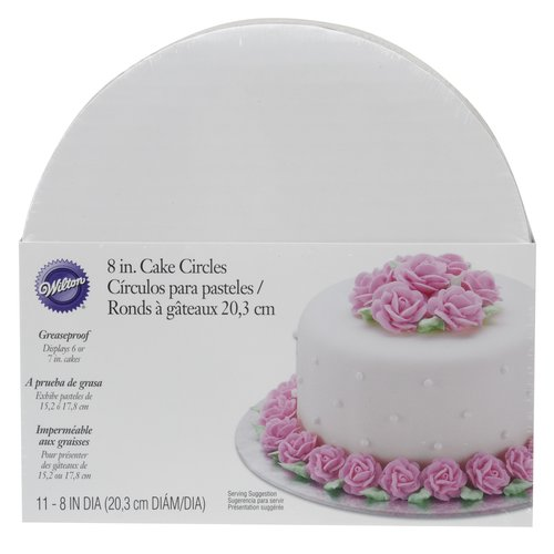 "Wilton 8"" Round Cake Boards, 11pk, White"