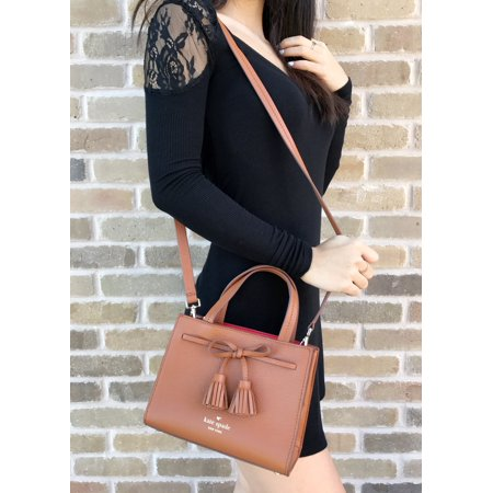 aaa93b4918f2 Kate Spade New York - Kate Spade Hayes Street Mini Isobel Leather Satchel  Tan Brown Small Crossbody - Walmart.com