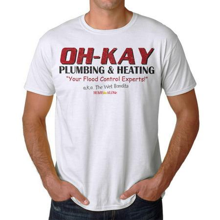 Aka Mens Tee - Home Alone Oh-Kay AKA Wet Bandits Men's White T-shirt NEW Sizes S-2XL