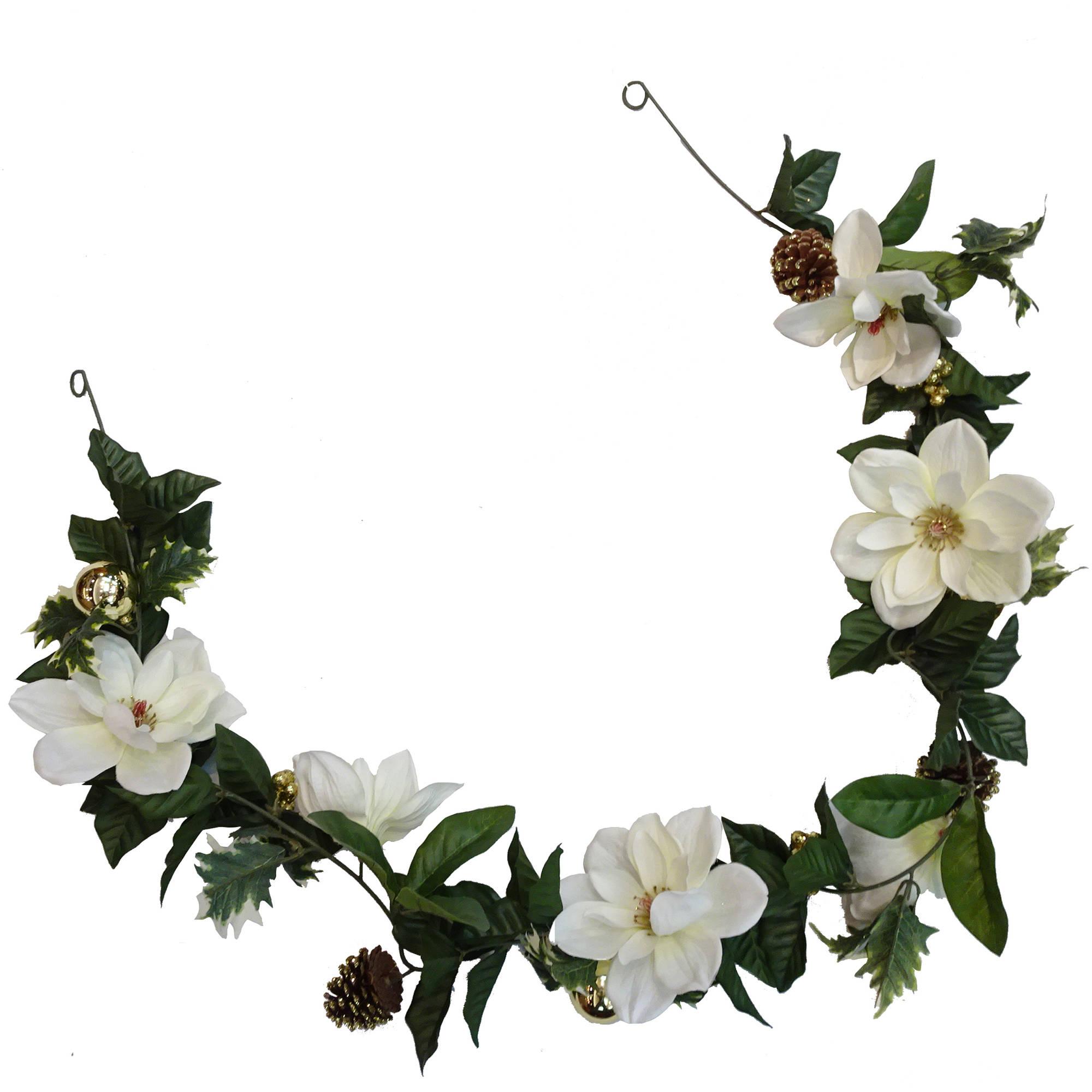 White Poinsettia Garland