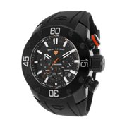 10616Sm-Bb-01-Oa Lionpulse Chronograph Black Silicone, Dial And Case Orange Accent Watch