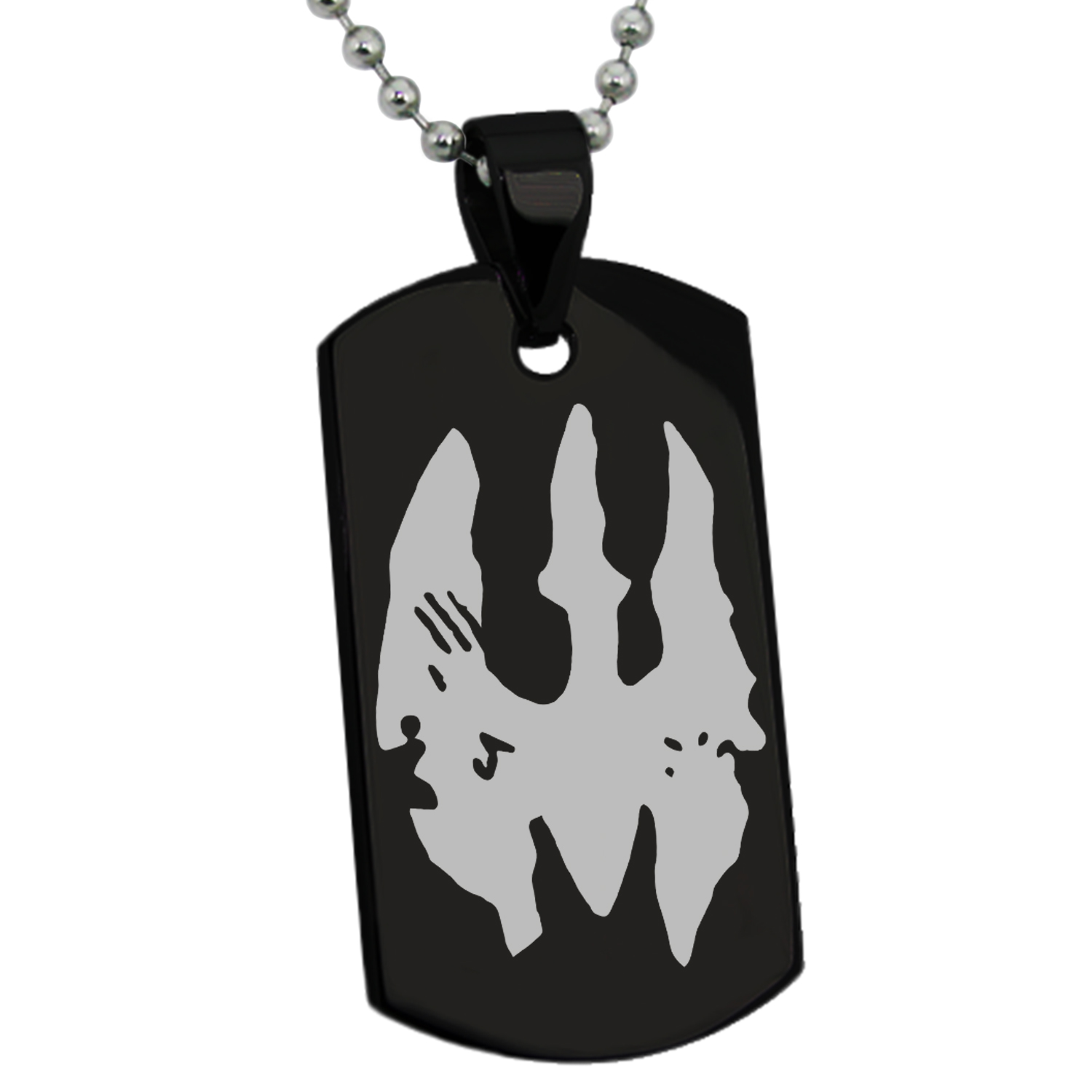 Stainless steel star wars mandalorian death watch symbol engraved stainless steel star wars mandalorian death watch symbol engraved dog tag pendant necklace walmart biocorpaavc Image collections