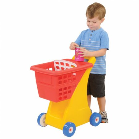 Little Tikes Shopping Cart This week's grocery list calls for a carton of milk, some fresh vegetables and a cute little cart to place it all in! This little shopping cart lets little kids fill up their basket with pretend food, so they can shop just like Mom and Dad.
