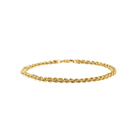 Brilliance Fine Jewelry 10kt Yellow Gold Left and Right Rope Bracelet