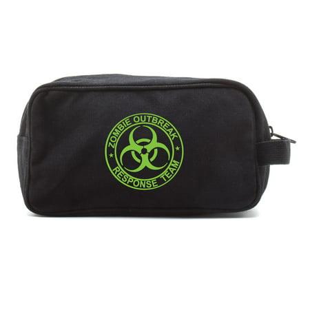 Zombie Outbreak Response Team Canvas Shower Kit Travel Toiletry Bag Case