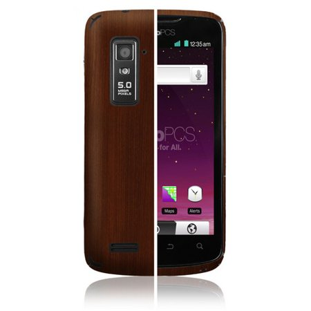 Skinomi Phone Skin Dark Wood Cover Clear Screen Protector For Zte Anthem 4G