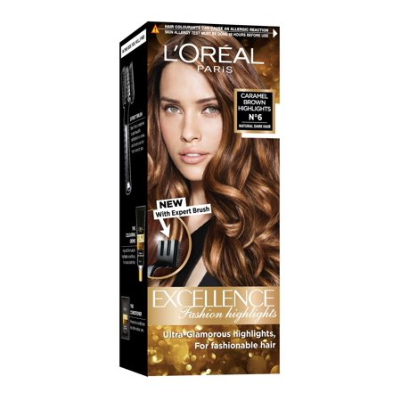 Caramel Brown (L'Oreal Paris Excellence Fashion Highlights Hair Color, Caramel Brown,)
