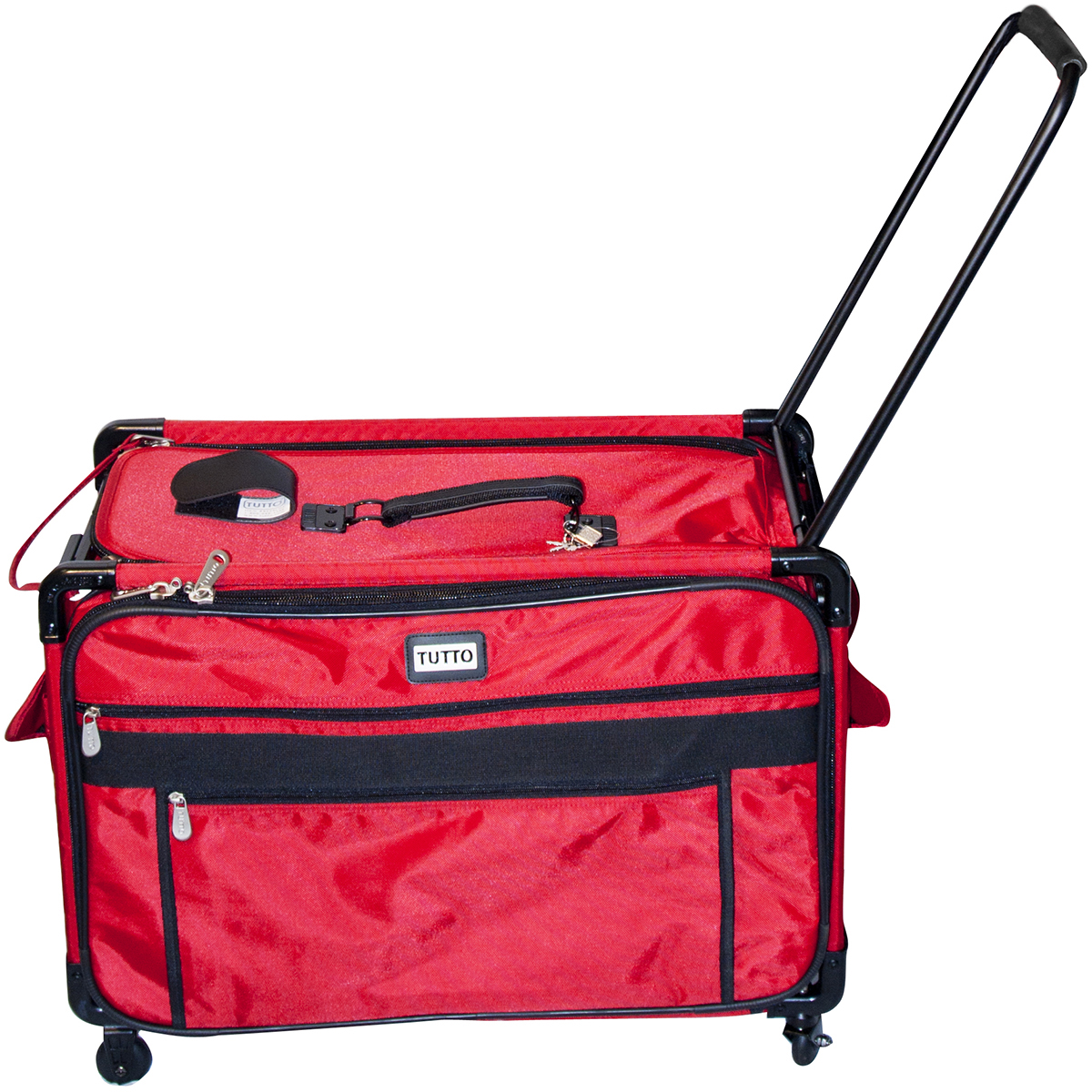TUTTO Machine On Wheels Case, Red