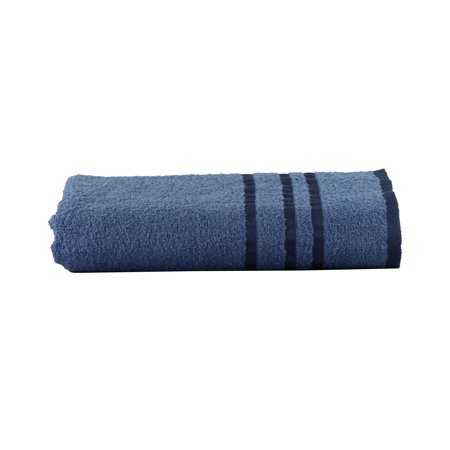 Mainstays Basic Bath Collection - Single Bath Towel, Blue Stripe
