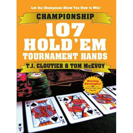 Championship 107 Hold'em Tournament Hands - eBook