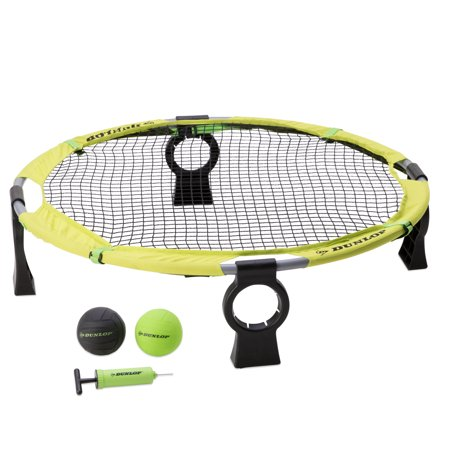 Dunlop Premium Easy Assembly Spike Battle Set, Includes 1 net system, 4 competition balls, 1 air pump, 1 carrying bag, Green ()