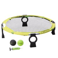 Dunlop Premium Easy Assembly Spike Battle Set, Includes 1 net system, 4 competition balls, 1 air pump, 1 carrying bag, Green