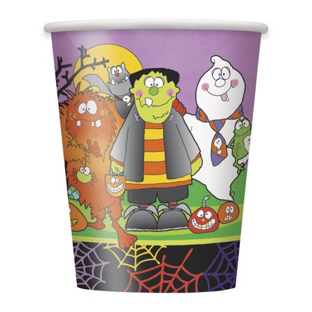 Unique Little Monsters Halloween Standard 9 Oz Cups, 8 CT](Tiny Monsters Halloween Quest)